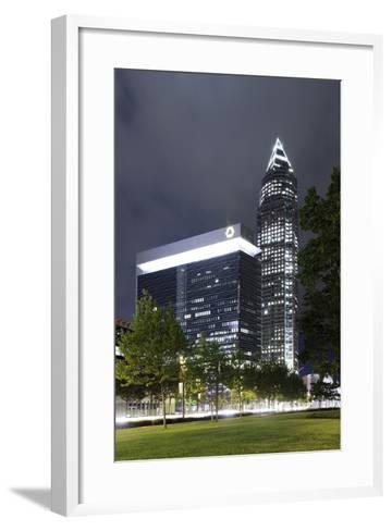 Messeturm, Messe Frankfurt, District Gallus, European District, Frankfurt on the Main-Axel Schmies-Framed Art Print