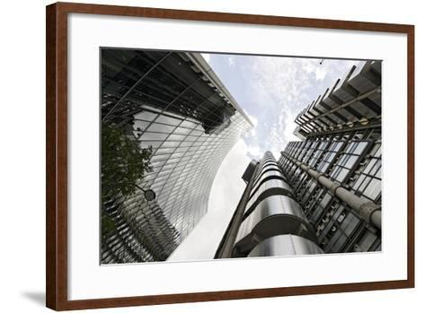 Modern Architecture, Lloyd'S, Lloyds Building, Tower by Architect Richard Rogers, London-Axel Schmies-Framed Art Print