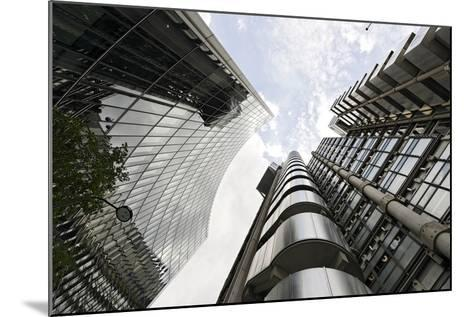 Modern Architecture, Lloyd'S, Lloyds Building, Tower by Architect Richard Rogers, London-Axel Schmies-Mounted Photographic Print