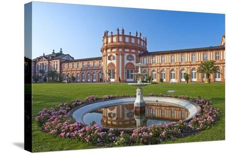 Europe, Germany, Hesse, Wiesbaden, Schloss Biberach on the Bank of the Rhine-Chris Seba-Stretched Canvas Print