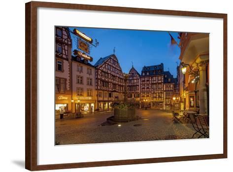 Europe, Germany, Rhineland-Palatinate, Bernkastel-Kues at Moselle River, Market Place-Chris Seba-Framed Art Print