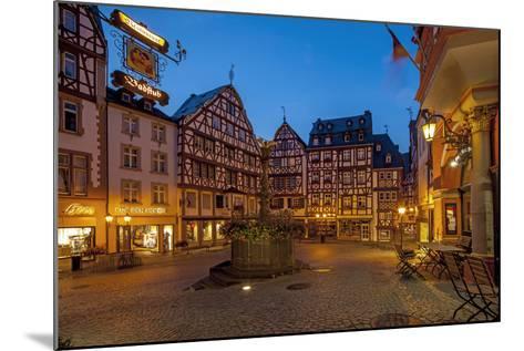 Europe, Germany, Rhineland-Palatinate, Bernkastel-Kues at Moselle River, Market Place-Chris Seba-Mounted Photographic Print