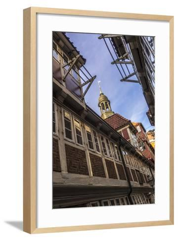 Germany, Hamburg, Neustadt, Krameramtsstuben, Church, St. Michaelis, Michel-Ingo Boelter-Framed Art Print