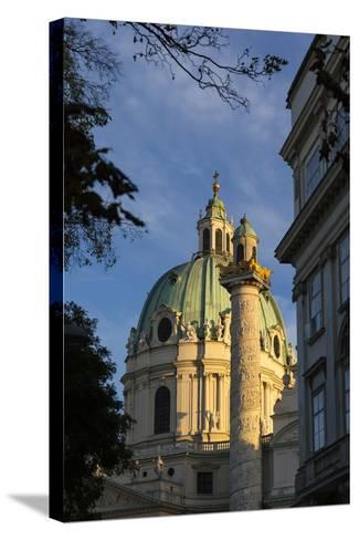Europe, Austria, Vienna, St. Charles's Church-Gerhard Wild-Stretched Canvas Print