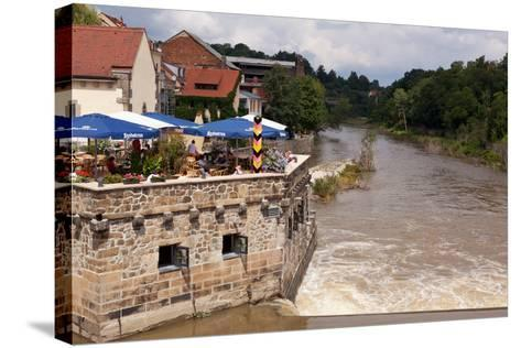 Germany, Saxony, Gšrlitz, VierradenmŸhle, the Most Eastern Restaurant of Germany-Catharina Lux-Stretched Canvas Print
