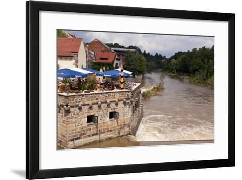 Germany, Saxony, Gšrlitz, VierradenmŸhle, the Most Eastern Restaurant of Germany-Catharina Lux-Framed Art Print