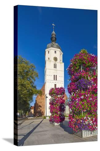Europe, Germany, Brandenburg, Spreewald, LŸbben, Market Church, Floral Decoration-Chris Seba-Stretched Canvas Print