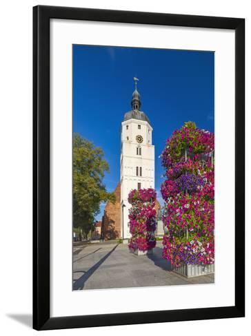 Europe, Germany, Brandenburg, Spreewald, LŸbben, Market Church, Floral Decoration-Chris Seba-Framed Art Print