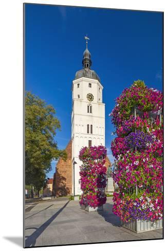 Europe, Germany, Brandenburg, Spreewald, LŸbben, Market Church, Floral Decoration-Chris Seba-Mounted Photographic Print