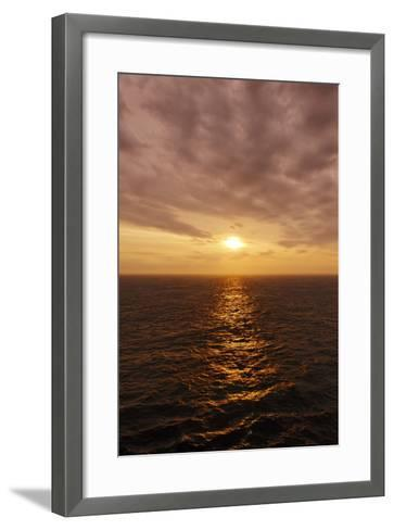 Sunset on the Open Seas-Axel Schmies-Framed Art Print