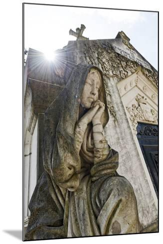 Historical Cemetery, Tomb, Burial Chamber, Statue, Cemiterio Dos Prazeres-Axel Schmies-Mounted Photographic Print
