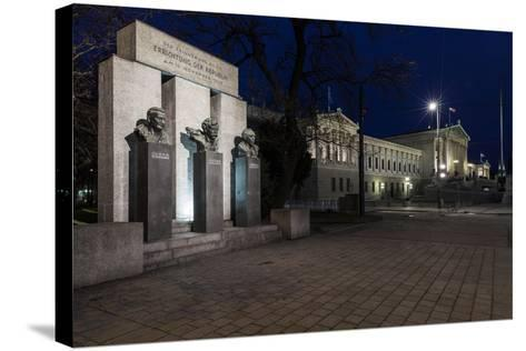 Austria, Vienna, Parliament, Monument of the Republic-Gerhard Wild-Stretched Canvas Print
