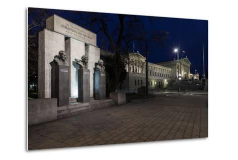 Austria, Vienna, Parliament, Monument of the Republic-Gerhard Wild-Metal Print