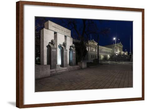Austria, Vienna, Parliament, Monument of the Republic-Gerhard Wild-Framed Art Print