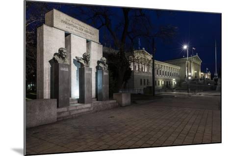 Austria, Vienna, Parliament, Monument of the Republic-Gerhard Wild-Mounted Photographic Print