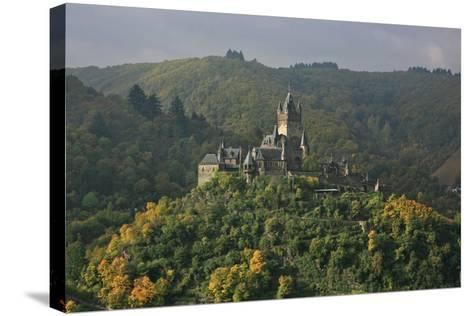 The Imperial Castle Near Cochem on the Moselle in the Diffuse Light of an Autumn Day-Uwe Steffens-Stretched Canvas Print