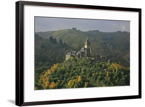 The Imperial Castle Near Cochem on the Moselle in the Diffuse Light of an Autumn Day-Uwe Steffens-Framed Art Print