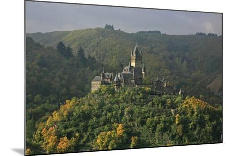 The Imperial Castle Near Cochem on the Moselle in the Diffuse Light of an Autumn Day-Uwe Steffens-Mounted Photographic Print