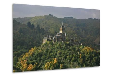 The Imperial Castle Near Cochem on the Moselle in the Diffuse Light of an Autumn Day-Uwe Steffens-Metal Print
