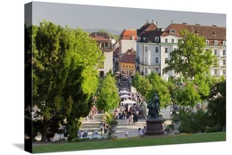 Lanner and Strauss of Statue, Wine Festival, Health Resort Park, Bathing Near Vienna, Lower Austria-Rainer Mirau-Stretched Canvas Print