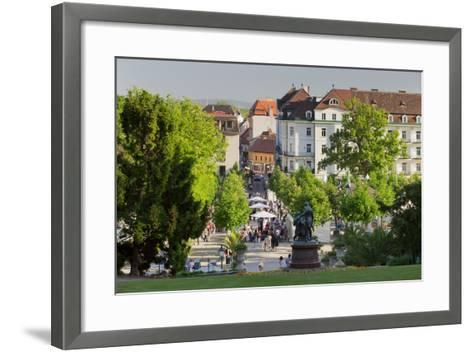 Lanner and Strauss of Statue, Wine Festival, Health Resort Park, Bathing Near Vienna, Lower Austria-Rainer Mirau-Framed Art Print