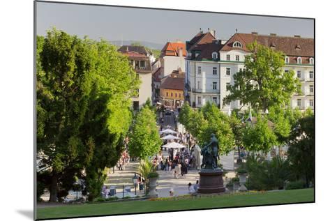 Lanner and Strauss of Statue, Wine Festival, Health Resort Park, Bathing Near Vienna, Lower Austria-Rainer Mirau-Mounted Photographic Print