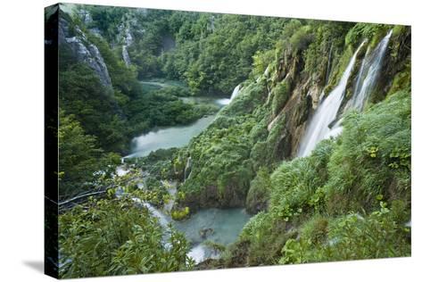 Croatia, National Park Plitvice, Waterfall-Rainer Mirau-Stretched Canvas Print