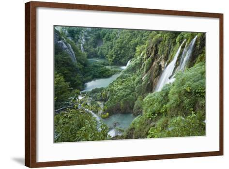 Croatia, National Park Plitvice, Waterfall-Rainer Mirau-Framed Art Print