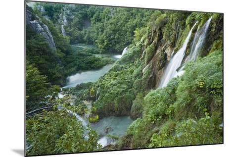 Croatia, National Park Plitvice, Waterfall-Rainer Mirau-Mounted Photographic Print
