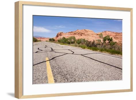USA, San Rafael Desert, Highway-Catharina Lux-Framed Art Print