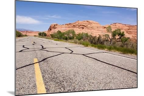 USA, San Rafael Desert, Highway-Catharina Lux-Mounted Photographic Print