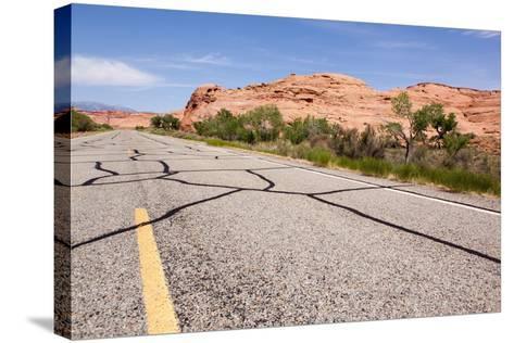 USA, San Rafael Desert, Highway-Catharina Lux-Stretched Canvas Print