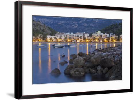 City View of Port De S?ller, Evening, Majorca, Spain-Rainer Mirau-Framed Art Print