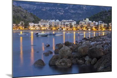 City View of Port De S?ller, Evening, Majorca, Spain-Rainer Mirau-Mounted Photographic Print