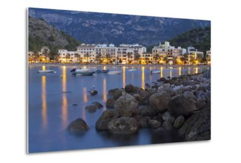 City View of Port De S?ller, Evening, Majorca, Spain-Rainer Mirau-Metal Print