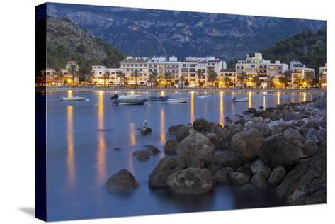 City View of Port De S?ller, Evening, Majorca, Spain-Rainer Mirau-Stretched Canvas Print