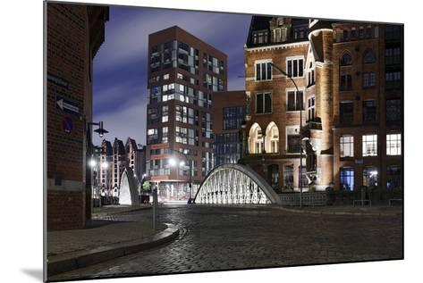 Architecture Old and Modern, Arabica House in the †berseequartier, Speicherstadt-Axel Schmies-Mounted Photographic Print