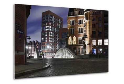 Architecture Old and Modern, Arabica House in the †berseequartier, Speicherstadt-Axel Schmies-Metal Print