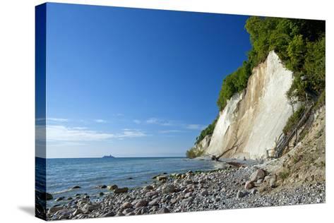 Germany, the Baltic Sea, Western Pomerania, Island RŸgen, Chalk Rocks, Ferry, Horizon-Chris Seba-Stretched Canvas Print