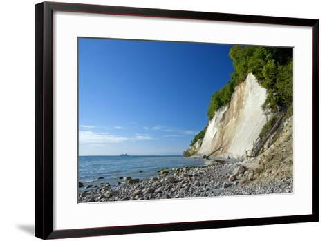 Germany, the Baltic Sea, Western Pomerania, Island RŸgen, Chalk Rocks, Ferry, Horizon-Chris Seba-Framed Art Print