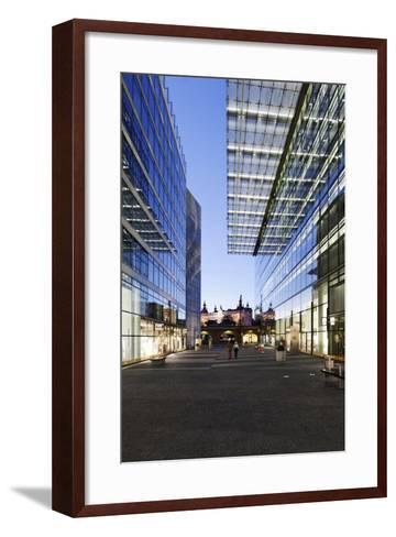 Architecture, Neues Kranzler Eck, KurfŸrstendamm, Kudamm, City-West-Axel Schmies-Framed Art Print