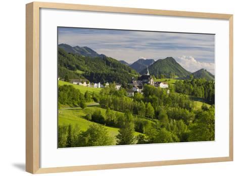 Maria Neustift, Foothills of the Alps, Upper Austria, Austria-Rainer Mirau-Framed Art Print
