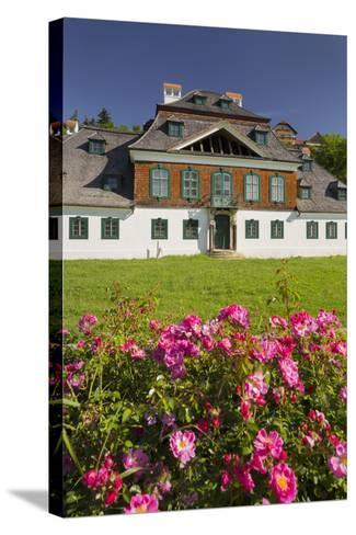 Luberegg Castle, Roses, Wachau, Lower Austria, Austria-Rainer Mirau-Stretched Canvas Print