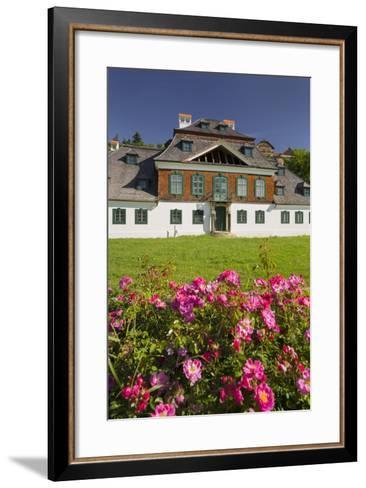 Luberegg Castle, Roses, Wachau, Lower Austria, Austria-Rainer Mirau-Framed Art Print