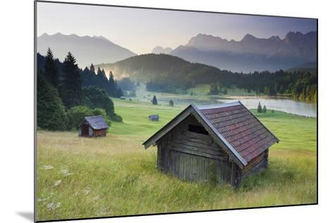 Germany, Bavaria, Lake Geroldsee, Northern Karwendel Range, Huts-Rainer Mirau-Mounted Photographic Print