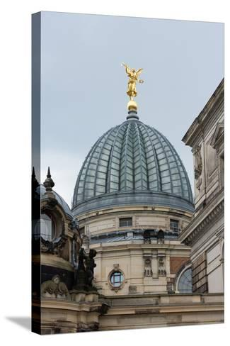 Dresden, Academy of Arts with Arts Centre-Catharina Lux-Stretched Canvas Print
