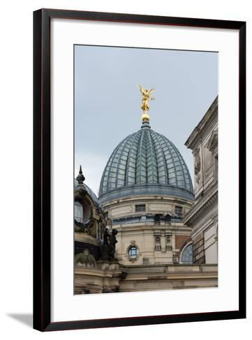 Dresden, Academy of Arts with Arts Centre-Catharina Lux-Framed Art Print