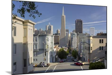 Montgomery Street, Transamerica Pyramid, Telegraph Hill, San Francisco, California, Usa-Rainer Mirau-Mounted Photographic Print