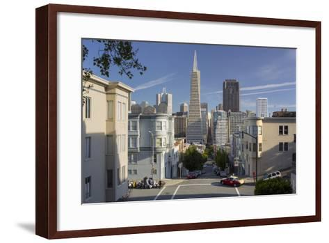 Montgomery Street, Transamerica Pyramid, Telegraph Hill, San Francisco, California, Usa-Rainer Mirau-Framed Art Print