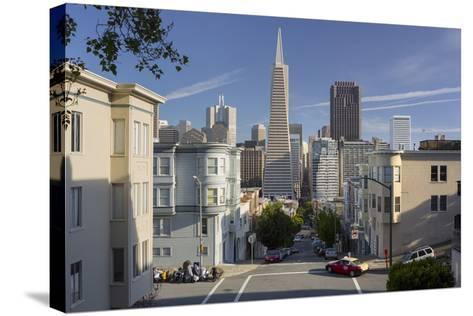 Montgomery Street, Transamerica Pyramid, Telegraph Hill, San Francisco, California, Usa-Rainer Mirau-Stretched Canvas Print